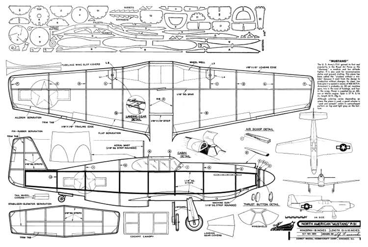 P-51 Mustang Comet Plans - AeroFred - Download Free Model ...