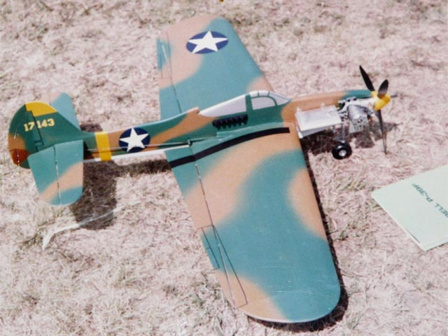 P-63 King Cobra model airplane plan