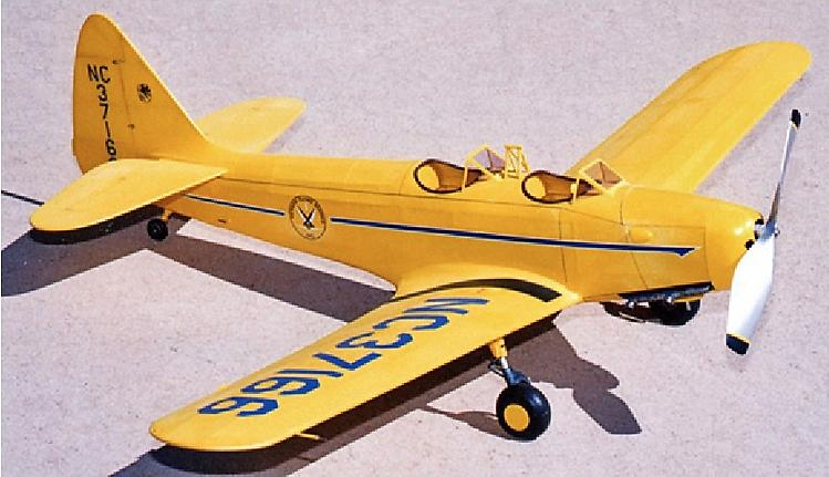 PT-19 Army Trainer model airplane plan