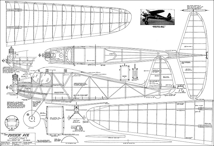 Pacific Ace Old Timer model airplane plan