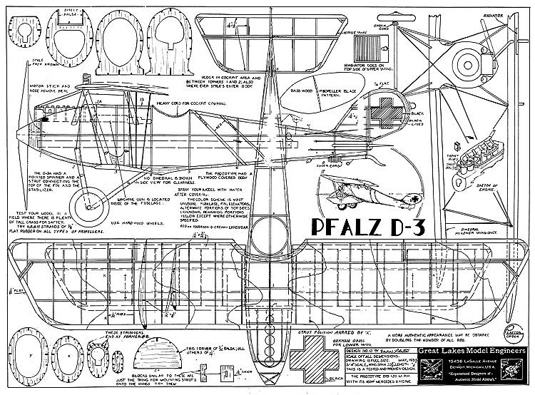 Pfalz D 3 Plans Aerofred Download Free Model Airplane