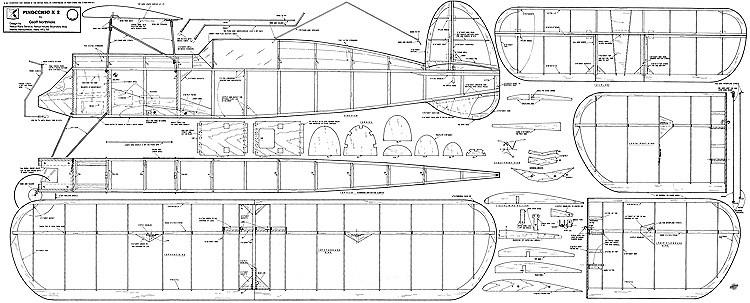 Pinocchio x2 46in model airplane plan