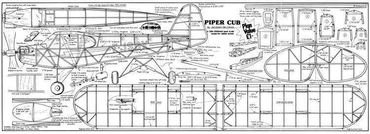 Piper Cub 2 Plans Aerofred Download Free Model