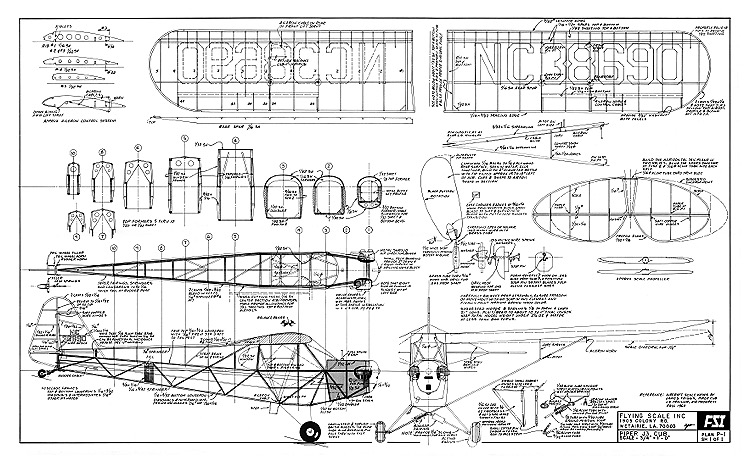 Piper J3 Cub FSI model airplane plan