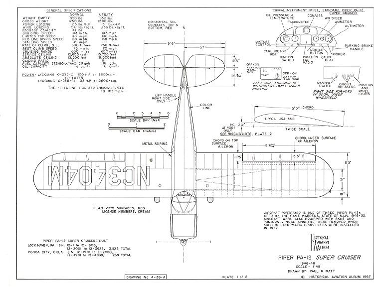 Piper Pa-12 Super Cruiser Plans - Aerofred