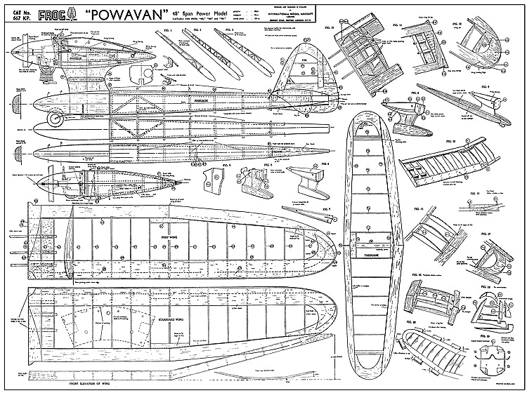 Powavan Frog-667KP-1 model airplane plan