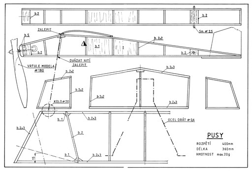 Pusy model airplane plan