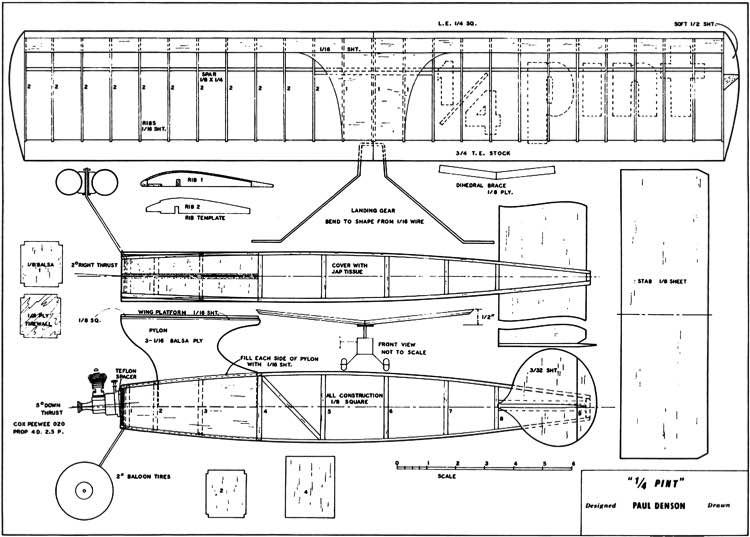 Quarterpint model airplane plan