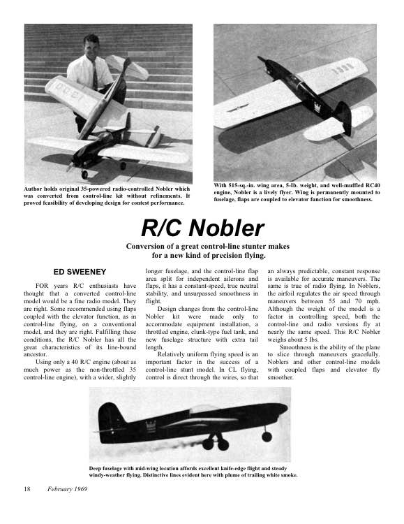 RC Nobler model airplane plan