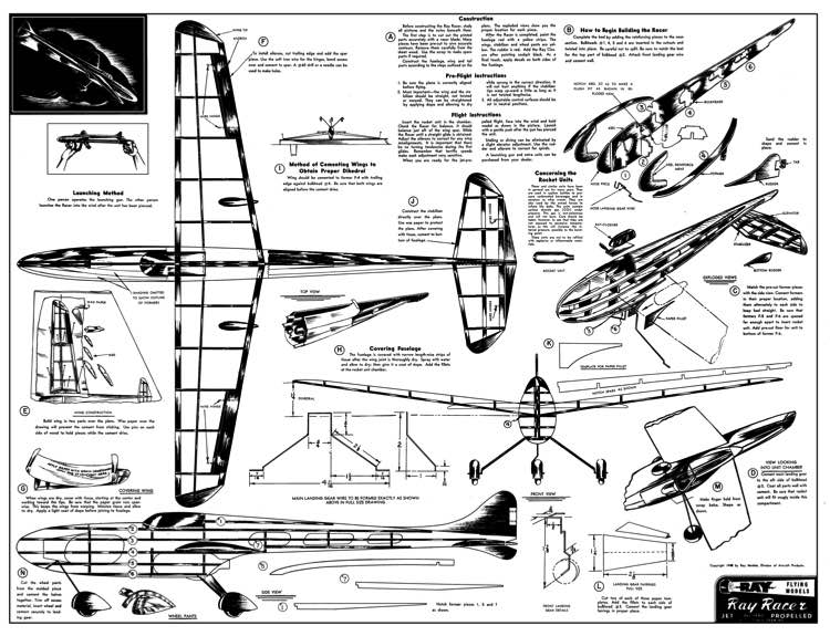 RayRacer model airplane plan