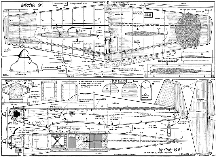 Reno 01 model airplane plan