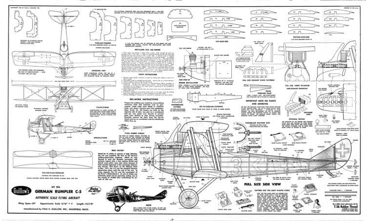 rumpler c5 plans - aerofred