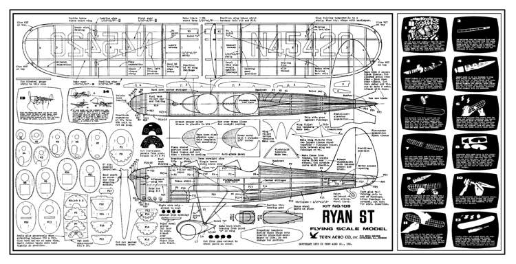 Ryan ST model airplane plan
