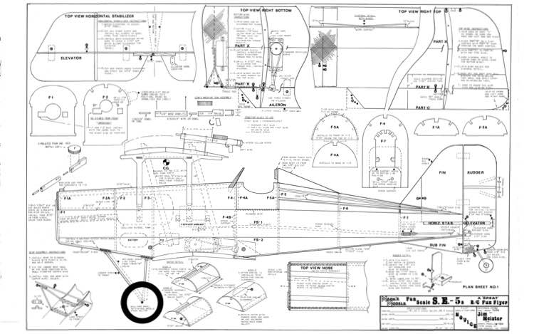SE-5A Marks Models 42in model airplane plan