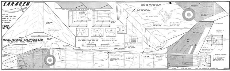 Saracen model airplane plan
