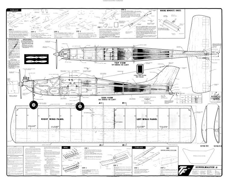 Schoolmaster II model airplane plan