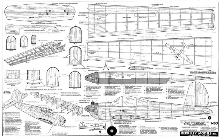 Schweizer 1-30 2 model airplane plan