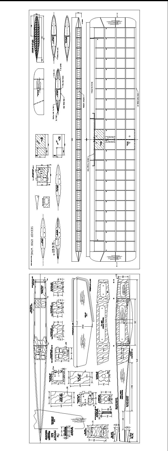 seaker model airplane plan