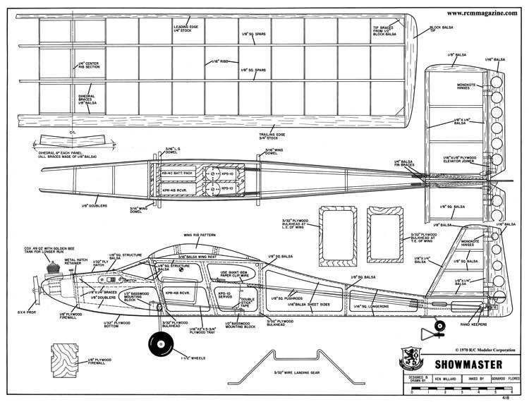 Showmaster model airplane plan