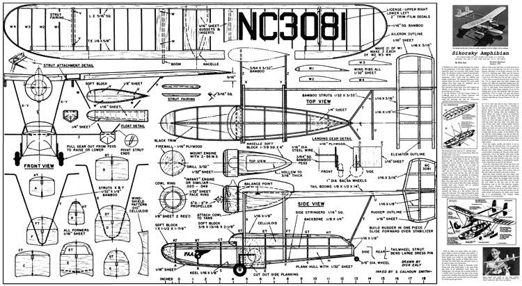 Sikorsky S-39 Amphibian model airplane plan