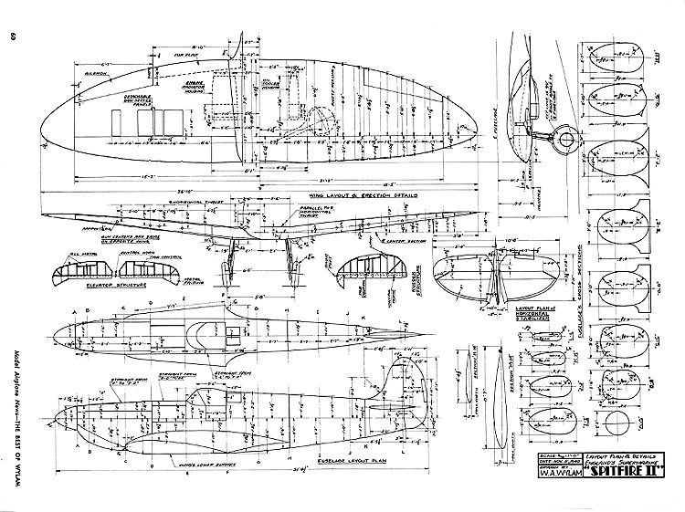 Spitfire II model airplane plan