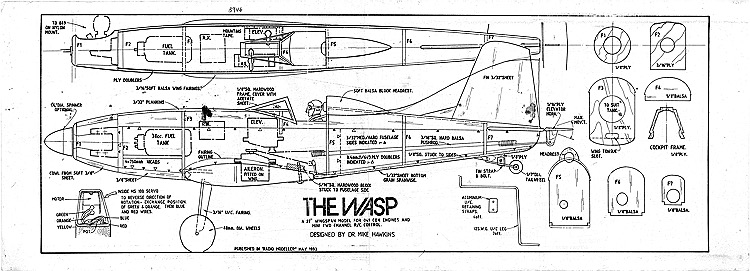 The Wasp model airplane plan