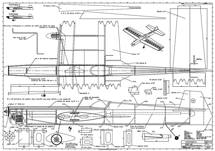 TUPYNIKE II model airplane plan