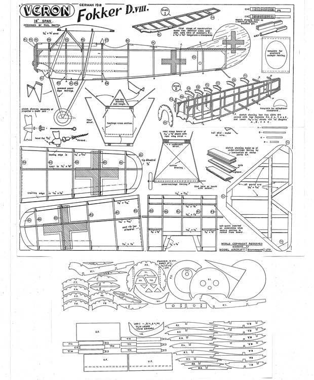 Veron D8 model airplane plan