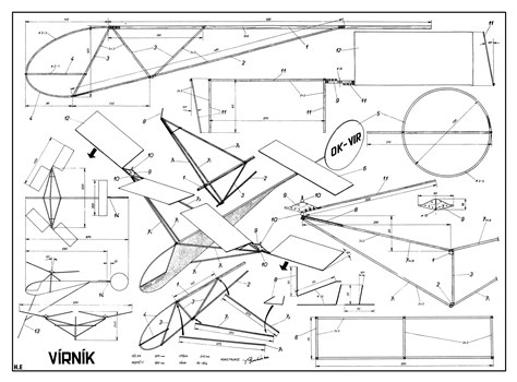 Virnik model airplane plan