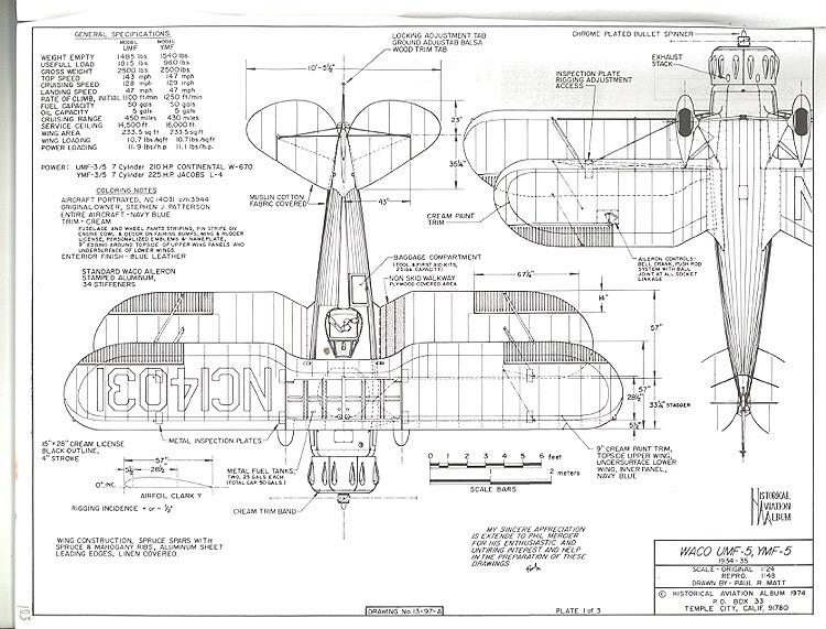 waco umf-5 ymf-5 plans - aerofred