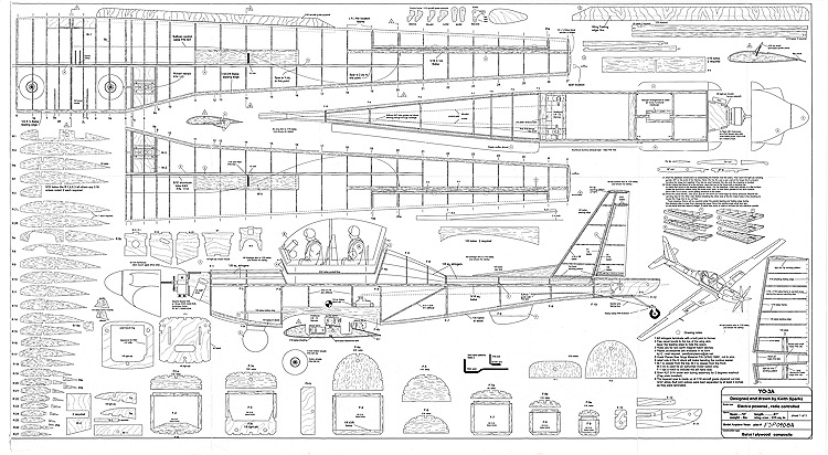 YO-3A model airplane plan