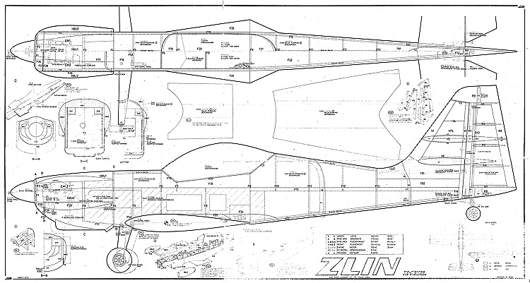 Zlin Z-50L MK Plans - AeroFred - Download Free Model Airplane Plans