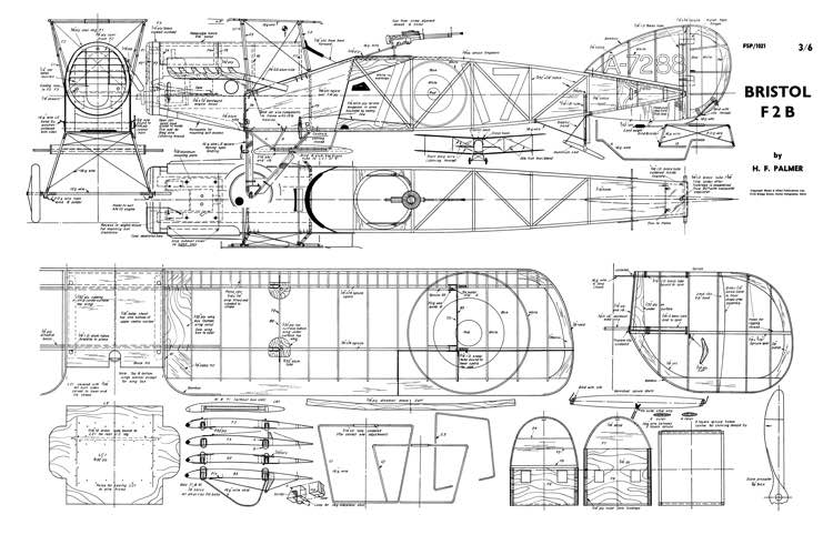 Bristol F2B 2 model airplane plan