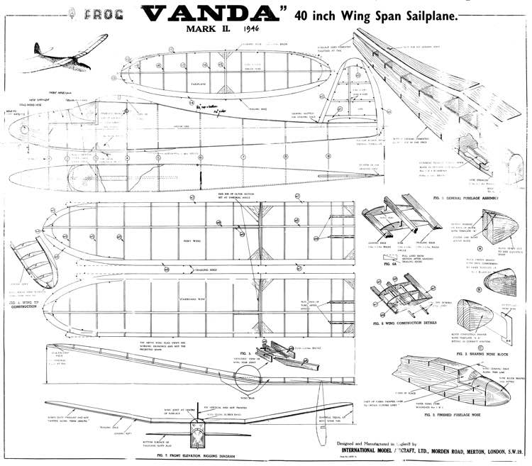 Frog Vanda Mk II Glider model airplane plan