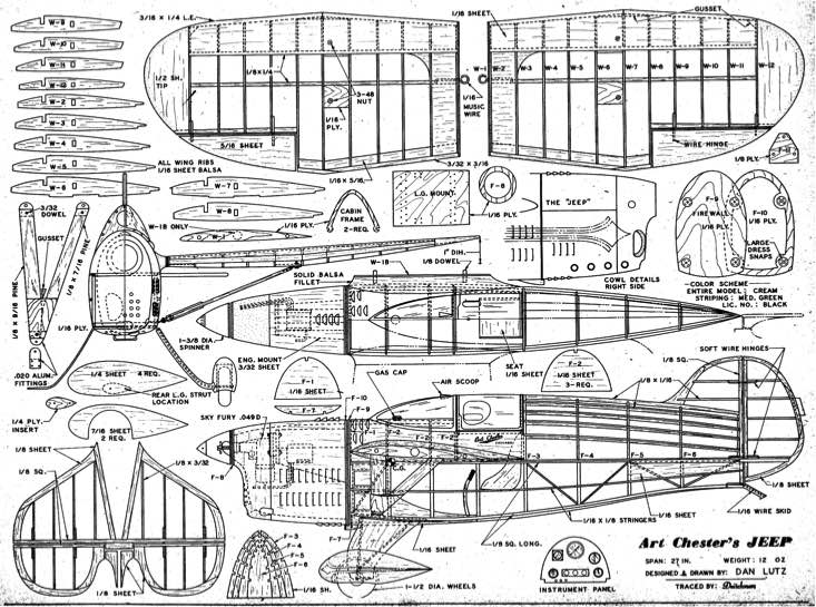Art Chesters Jeep model airplane plan