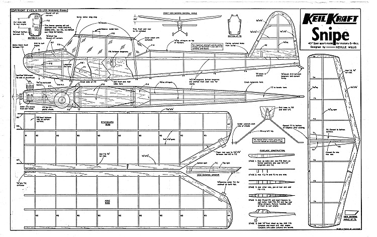 Snipe Keil Kraft model airplane plan