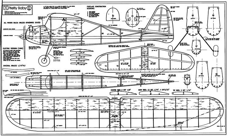 Pretty Baby 1 model airplane plan