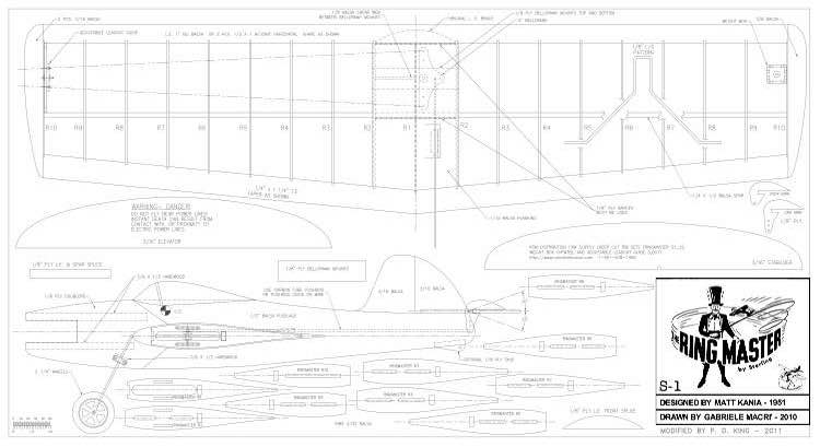 RINGMASTER S-1 C/L model airplane plan