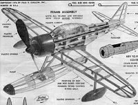 Nakajima RUFE model airplane plan