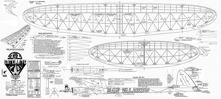 Satellite 1000 Series 70 model airplane plan