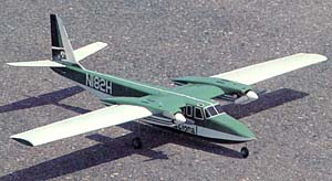 The AeroCommander Shrike model airplane plan