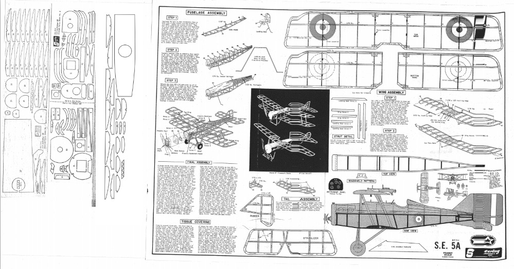 Sterling SE5a model airplane plan