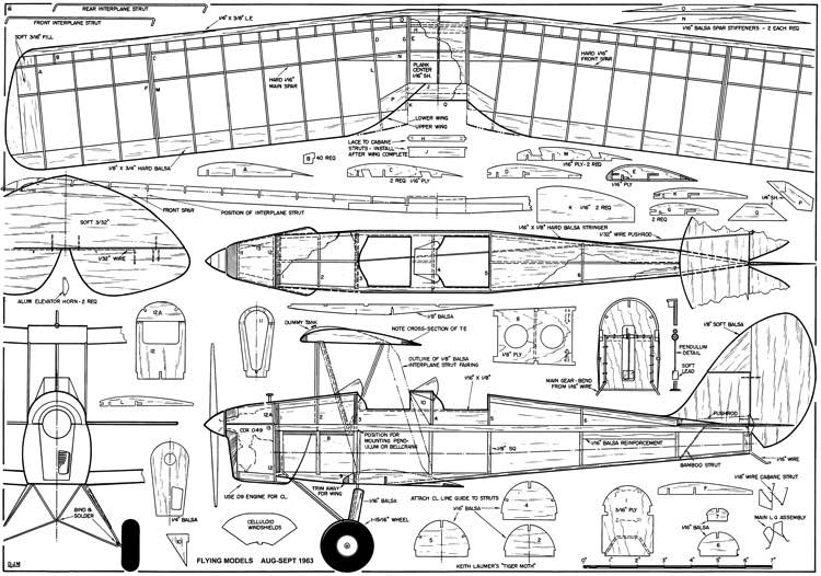 Tiger Moth Plans - AeroFred - Download Free Model Airplane Plans