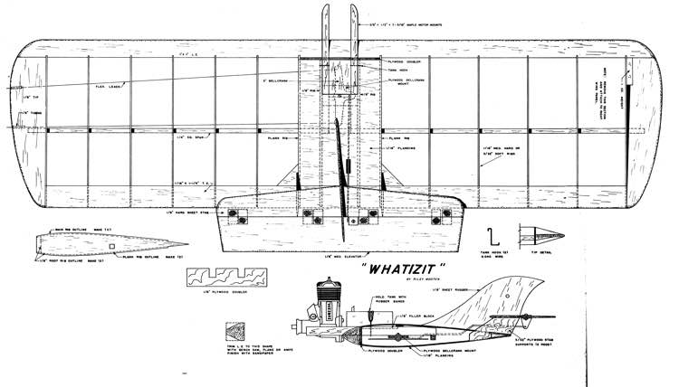 WhatIzIt model airplane plan