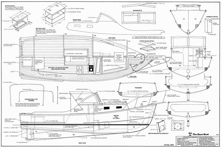 BASS BOAT Plans - AeroFred - Download Free Model Airplane Plans