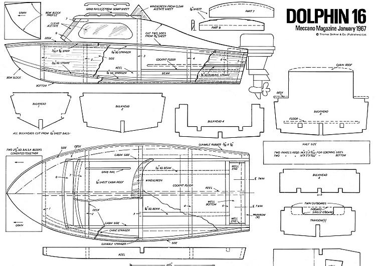 DOLPHIN 16 Plans - AeroFred - Download Free Model Airplane Plans