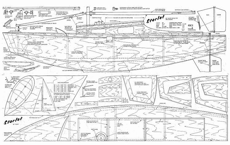 STARLET Plans - AeroFred - Download Free Model Airplane Plans