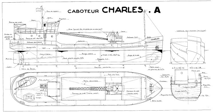CHARLES.A model airplane plan