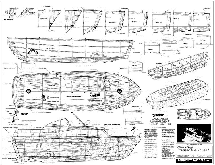 Chris Craft Constellation model airplane plan
