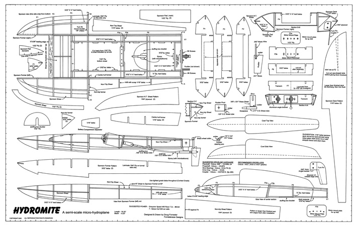 Hydromite Plans - AeroFred - Download Free Model Airplane Plans